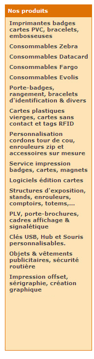 catalogue imprimantes cartes badges plastique